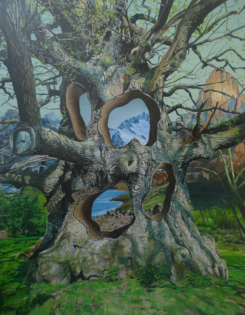 Fretville Oak, 135 x 173 cm, oil on linen, 2008