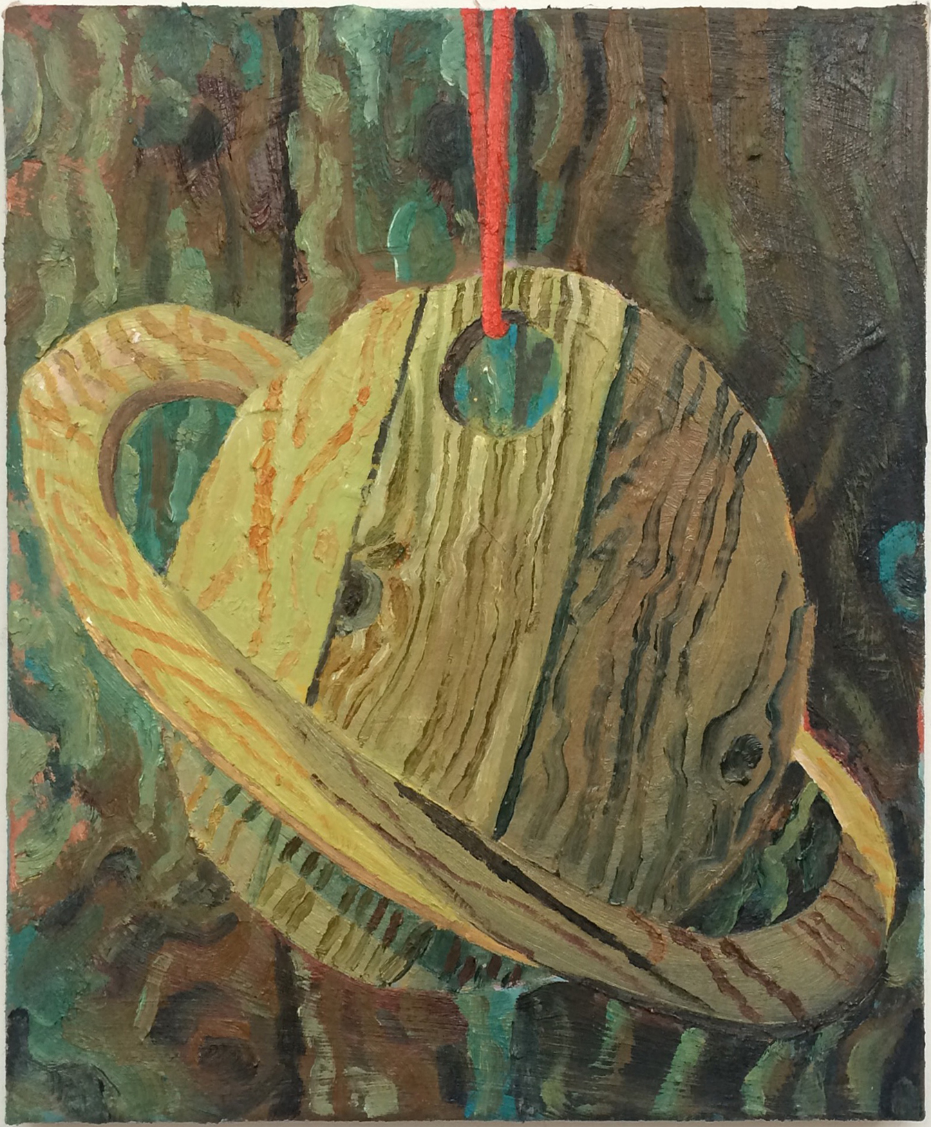 Saturn, 22x34cm, oil on linen, 2016