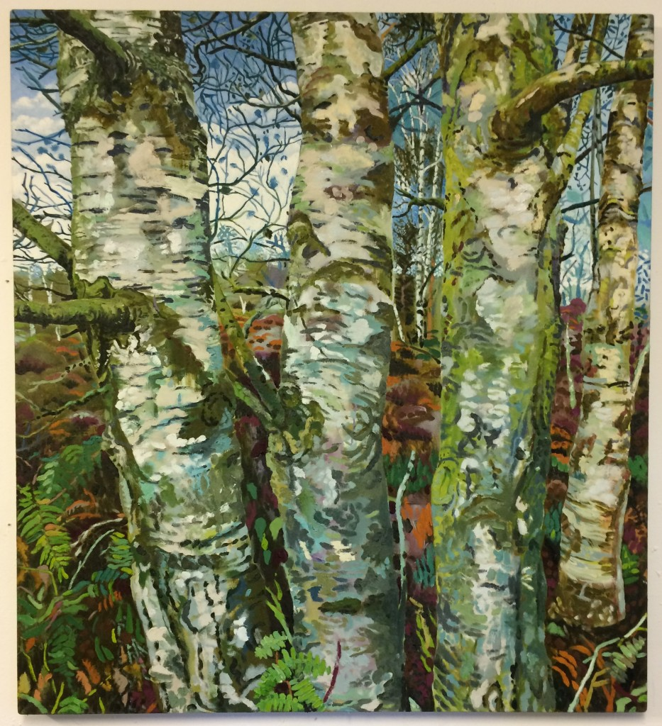 Silver Birches 100 x 111cm oil on linen 2017