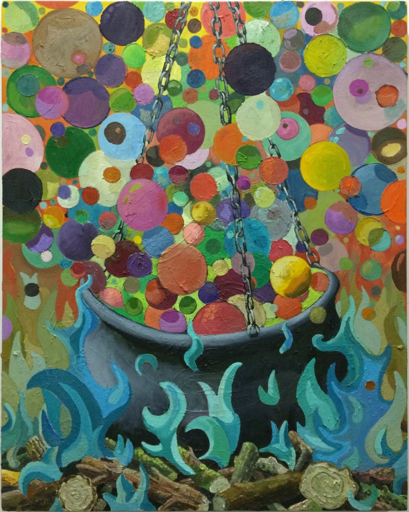 Cauldron, oil on linen, 60x70cm, 2016